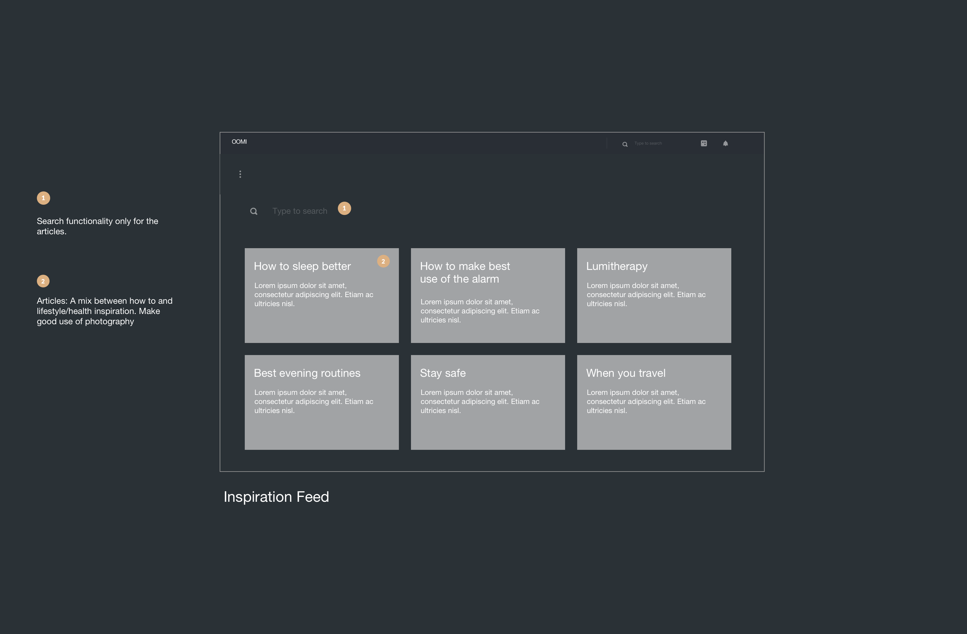 Feed Wireframe